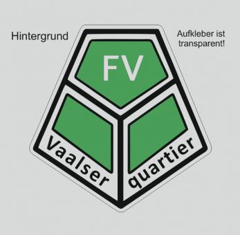 FVV Aufkleber Sticker transparent (für z.B. weiße/silberne Fahrzeuge)