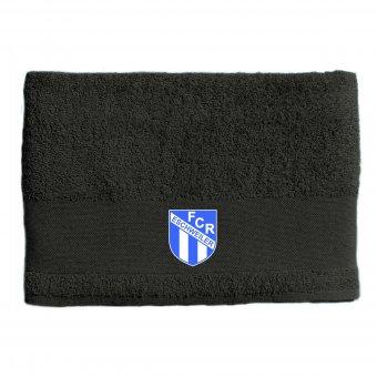 FCR Duschtuch / Handtuch grau mit Wappen 70x140cm - 500g/m²