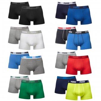 PUMA 2er Pack Basic Boxers Boxershorts Boxer Short Herren Unterhose Gr. S-XL