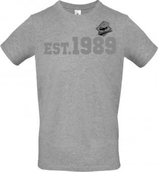 """Greyhounds T-Shirt """" EST.1989"""" heather grey Gr. 116 - 5XL"""