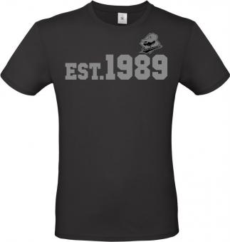 """Greyhounds T-Shirt """" EST.1989"""" schwarz Gr. 116 - 5XL"""