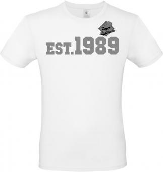 """Greyhounds T-Shirt """" EST.1989"""" white Gr. 116 - 5XL"""