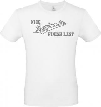 "Greyhounds T-Shirt ""Finish"" white Gr. 116 - 5XL"