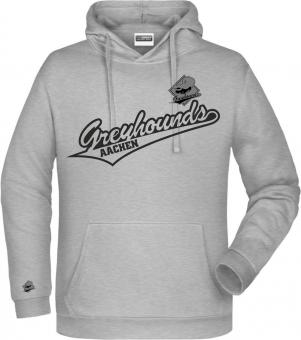 "Greyhounds Hoodie Kapuzenpullover ""Greyhounds"" heather grey Gr. 116 - 5XL"
