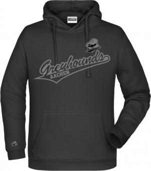 "Greyhounds Hoodie Kapuzenpullover ""Greyhounds"" schwarz Gr. 116 - 5XL"