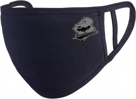 Greyhounds Mundschutz/Maske schwarz