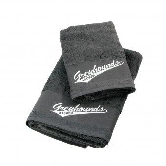 Greyhounds Duschtuch & Handtuch im Set mit Druck 70x140cm & 50x100cm