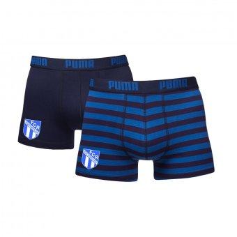 FCR 2er Pack PUMA Boxer Shorts blau/dunkelblau mit Emblem