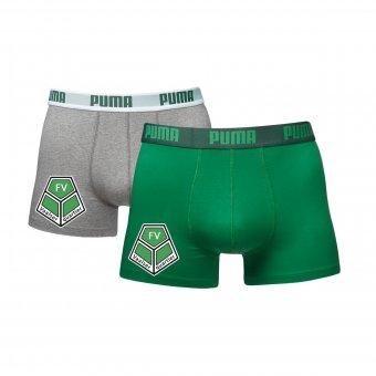 FVV 2er Pack PUMA Boxer Shorts grün/grau mit Emblem