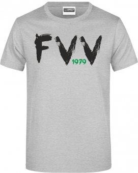 """FVV TShirt Shirt """"FVV 1979""""  grau meliert Gr. 116 - 5XL"""