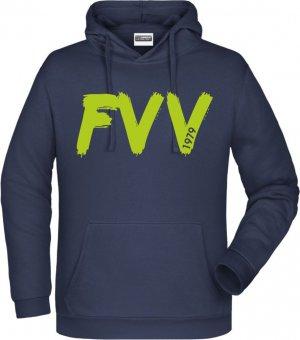 """FVV Hoodie Kapuzenpullover """"FVV""""  navy Gr. 116 - 5XL"""