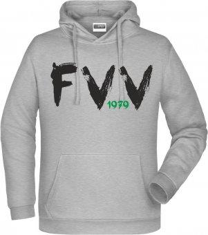 "FVV Hoodie Kapuzenpullover ""FVV 1979""  hellgrau Gr. 116 - 5XL"