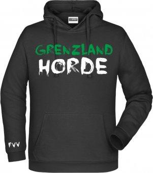 "FVV Hoodie Kapuzenpullover ""Grenzlandhorde""  schwarz Gr. 116 - 5XL"