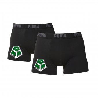 FVV 2er Pack PUMA Boxer Shorts schwarz/grau mit Emblem