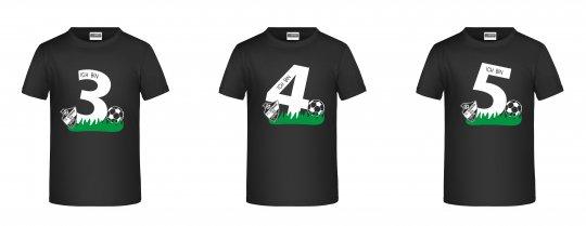 """Germania Freund KINDER T-Shirt """"Geburtstag"""" schwarz Gr. 98 - 164"""