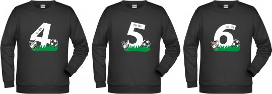 """Germania Freund KINDER Sweater """"Geburtstag"""" schwarz 98-164"""