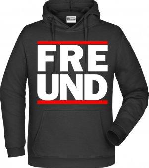 """Germania Freund Hoodie Kapuzenpullover """"RUN FREUND"""" schwarz Gr. 116 - 5XL"""