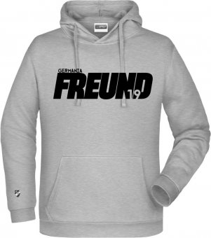 "Germania Freund Hoodie Kapuzenpullover ""Freund"" heather grey Gr. 116 - 5XL"