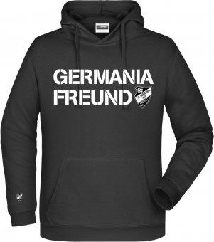 """Germania Freund Hoodie Kapuzenpullover """"GERMANIA FREUND"""" schwarz Gr. 116 - 5XL"""