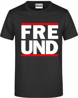 """Germania Freund TShirt Shirt """" RUN FREUND"""" schwarz Gr. 116 - 5XL"""
