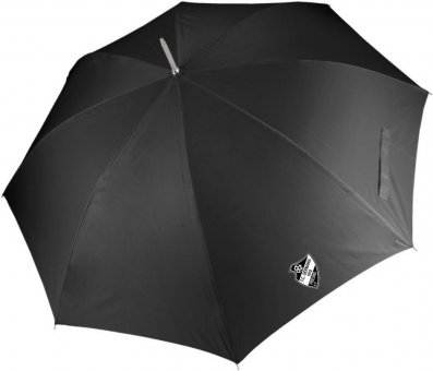 Germania Freund Regenschirm schwarz mit Wappen 120cm, Automatikverschluss