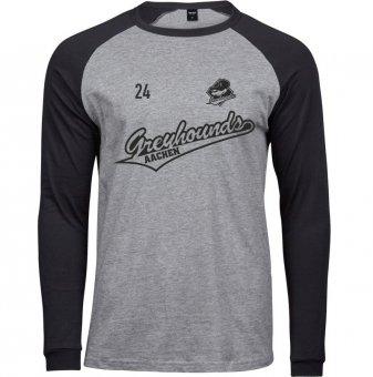 Greyhounds Baseball Longsleeve Shirt - Gr. S - 3XL