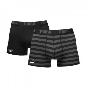 Greyhounds 2er Pack PUMA Boxer Shorts schwarz/grau mit Emblem