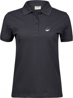 Greyhounds Damen Piqué Polo Shirt Poloshirt - anthrazit Gr. S - 3XL