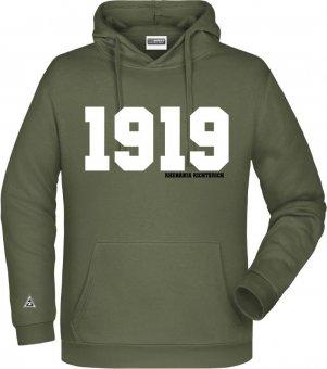 "Rhenania Richterich Hoodie Kapuzenpullover ""1919"" olive Gr. 116 - 5XL"