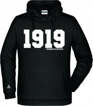 """Rhenania Richterich Hoodie Kapuzenpullover """"1919"""" schwarz Gr. 116 - 5XL"""